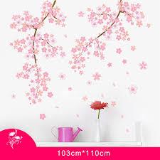 cherry home decor blossom wall stickers home decor self adhesive romantic