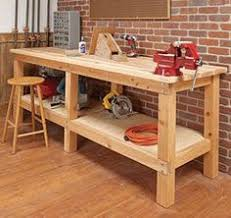 diy workbench i like the bottom shelf only being half depth so