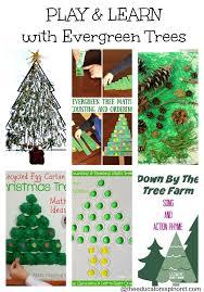 evergreen tree sensory craft playfulpreschool evergreen trees