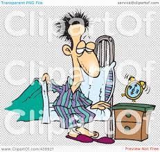 Getting Out Of Bed Royalty Free Rf Clip Art Illustration Of A Cartoon Man Getting