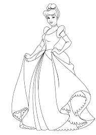 cinderella color page disney coloring pages color plate