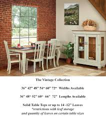 Custom Dining Room Tables - custom dining room table vintage collection gallery heritage