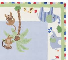 Kids Jungle Rug Jungle Friends Rug Pottery Barn Kids