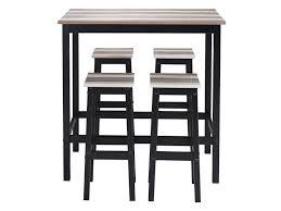 table haute cuisine conforama table haute 4 tabourets turner vente de ensemble table et chaise