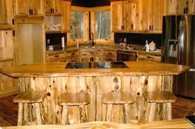 Rustic Kitchen Furniture Rustic Log Kitchen Bath