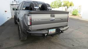 Classic Ford Truck Bumpers - f150 series honeybadger rear bumper w backup sensors u0026 tow hooks