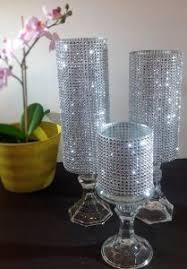 unique candle holders handmade bling wedding centerpiece decor
