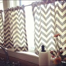 Chevron Pattern Curtains Curtains For A Bathroom Window Or Kitchen Window Chevron Pattern
