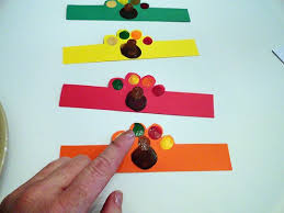 turkey napkin ring fingerprint turkey napkin rings make and takes