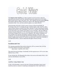 Summary Of Iron Curtain Speech Essay Plan Which Of The Following Marked The Start Of The Cold War