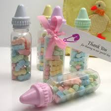 baby shower bottle favors blue pink ideas large fillable ribbons simple easy diy