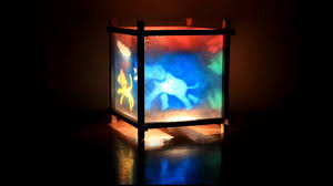 kids night lamp with paper wall lamp novelty kid baby bedroom 3d