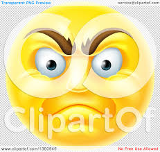 happy thanksgiving smiley face clipart of a 3d angry yellow male smiley emoji emoticon face