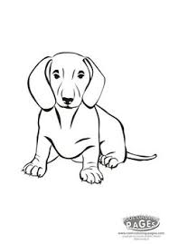 dog coloring pages printable dachshund dog coloring sheet