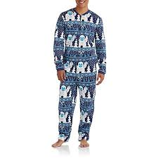 Sweater Pajamas Mens Sweater Abominable Snowman Onesie Union Suit
