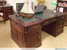 engels chesterfield bureau 160x75 cm massief mahonie te koop