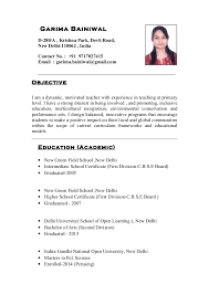 Sample Resume Teachers by Indian Teachers Resume 5 Resume For Teachers In Indian Format