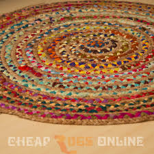 Jute Round Rugs by Elka Braided 90cm Round Rug Natural Jute Rugs Beyond Bright