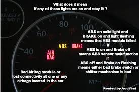 what does it mean when the airbag light comes on understanding differences between audi a6 clusters and the
