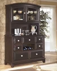 Dining Room Set With Buffet And Hutch Ridgley Contemporary Style Dark Brown Finish Dining Room Buffet