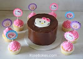 hello kitty cake cupcakes with hello kitty barbie u0026 the little