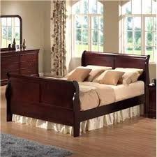 cherry sleigh bed austin group bordeaux king transitional cherry sleigh bed