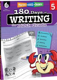180 days of writing for fifth grade shell education