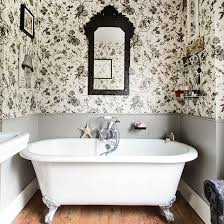 bathroom wallpaper ideas uk black and white bathroom with roll top bath bathroom decorating
