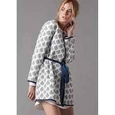 robe de chambre légere courte eté coton femme blanche achat