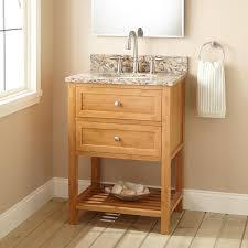 Teak Wood Bathroom Natural Polishe Bathroom Teak Wood Stand Vanity With Oval Granite