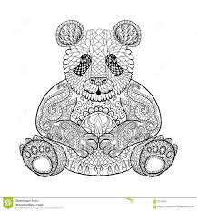 hand drawn tribal wombat animal totem for coloring stock