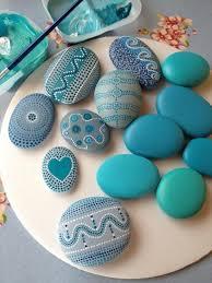 maritime motifs of blue stones paint diy decoration pinterest