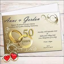50th wedding anniversary invitations 50 personalised golden 50th wedding anniversary invitations