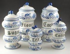 blue and white kitchen canisters four piece german blue onion kitchen canisters blue onion blue