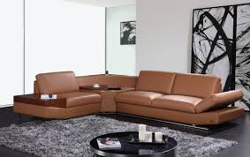 modern furniture ideas decor mesmerizing brown leather sectional sofa for living room