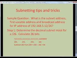subnetting tutorial ccna network tutorial ip subnetting tips and tricks youtube