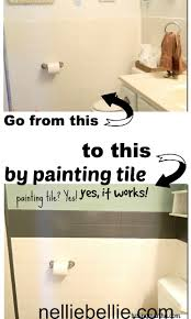 painting bathrooms painting tile a tutorial from painted tiles craft paint and