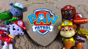 paw patrol kinetic sand badge surprises ryder chase marshall
