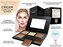 cream contour highlighting makeup kit foundation concealer palette