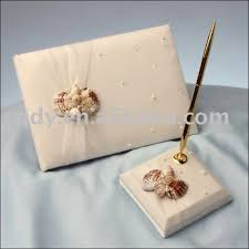 wedding gift set sell well wedding guest book and pen holder wedding decoration