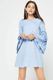 memdalet women u0027s long sleeve light blue mini shift casual dress
