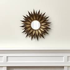 Crate And Barrel Wall Sconce Sunflower Mirror Crate And Barrel
