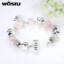 diy beaded charm bracelet images Aliexpress hot sale cute pink pet dog silver charm bracelet for jpg