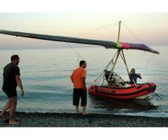 gommone volante deltaplano usato per lo sport
