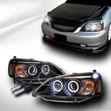 ebay honda civic parts 7x6 8000k hid xenon h4 clear glass ccfl halo headlight conversion