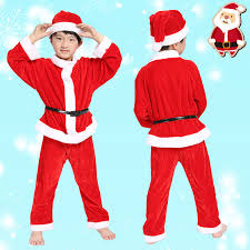santa claus suits free shipping children christmas santa claus costumes kids