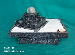 zen garden water fountain with ball