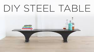 diy steel table made from an i beam youtube