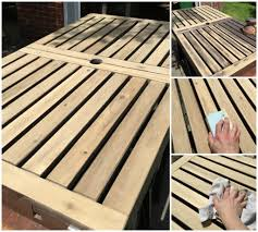 Ikea Patio Furniture - refinishing ikea wooden outdoor patio furniture diy montreal
