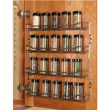 Kitchen Cabinet Door Spice Rack Steel Wire Door Mount Spice Racks In Chrome And Chagne From